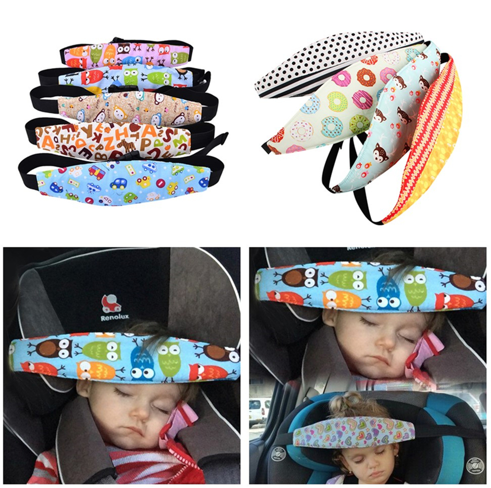 Adjustable Car Seat Sleep Nap Aid Baby Kids Infant Head Support Holder Fastening Belt Stroller Accessories Baby Pillows Saftey