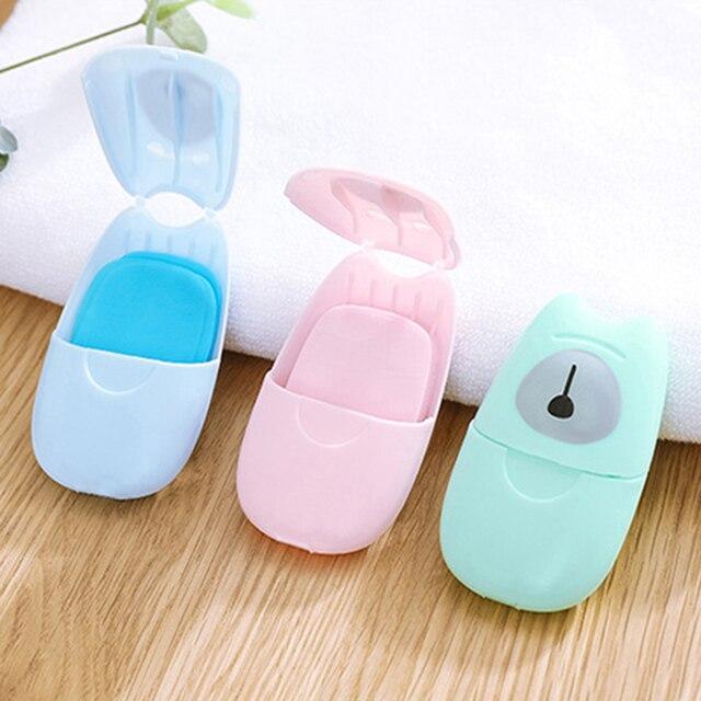 50PCS Travel Soap Paper Washing Hand Bath Clean Scented Slice Sheets 20pcs Disposable Boxe Soap Portable Mini Paper Soap 1