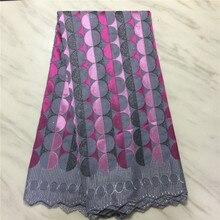 Новое поступление 100% хлопчатобумажная африканская кружевная ткань нигерийская кружевная ткань 2021 Высококачественная швейцарская вуаль в ...