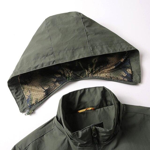 New Men's Softshell Jacket Autumn Spring Streetwear Tactical Bomber Windbreaker Jackets Men Hooded Hip-hop Pilot Windproof Coats 4