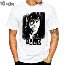 Viktor Tsoi Kino nowa koszulka muzyka rosja Viktor Tsoi Kino najnowszy 2019 T koszula mężczyzna O szyi bawełniana koszulka drukowanie