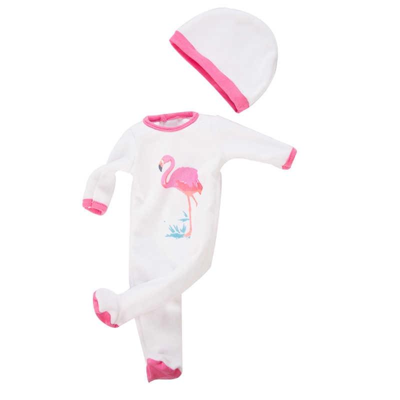 תינוק חדש נולד בגדי בובת אביזרי Fit 18 אינץ 43cm Unicorn פלמינגו אלפקה 3-סט חתיכה תינוק מתנה