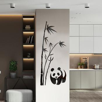 3D lustro akrylowe naklejki ścienne Art bambus Panda wzór zdejmowana dekoracja do domu salon naklejki do sypialni noworoczny prezent 2021 tanie i dobre opinie CN (pochodzenie) Nowoczesne Paczka z wieloma częściami PATTERN Mirror wall stickers Fashion Modern Removable Party Office School Home Living-room