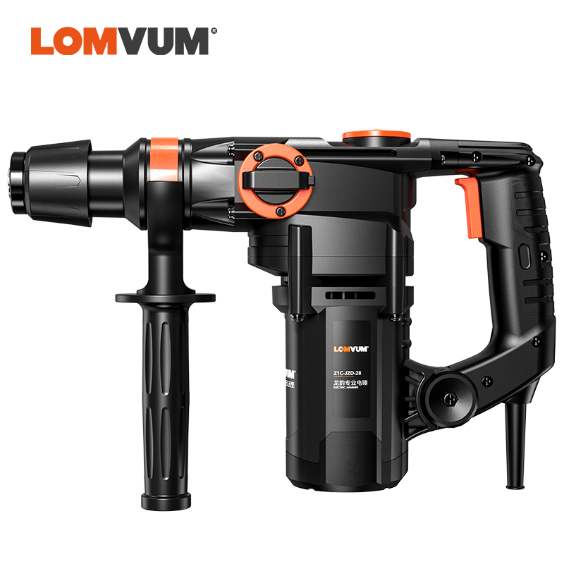 LOMVUM Hammer Drill 4580W Electric Drill 220V Electric Rotary Hammer Perforator Pick Puncher 4 Functions Power Tool Industrial