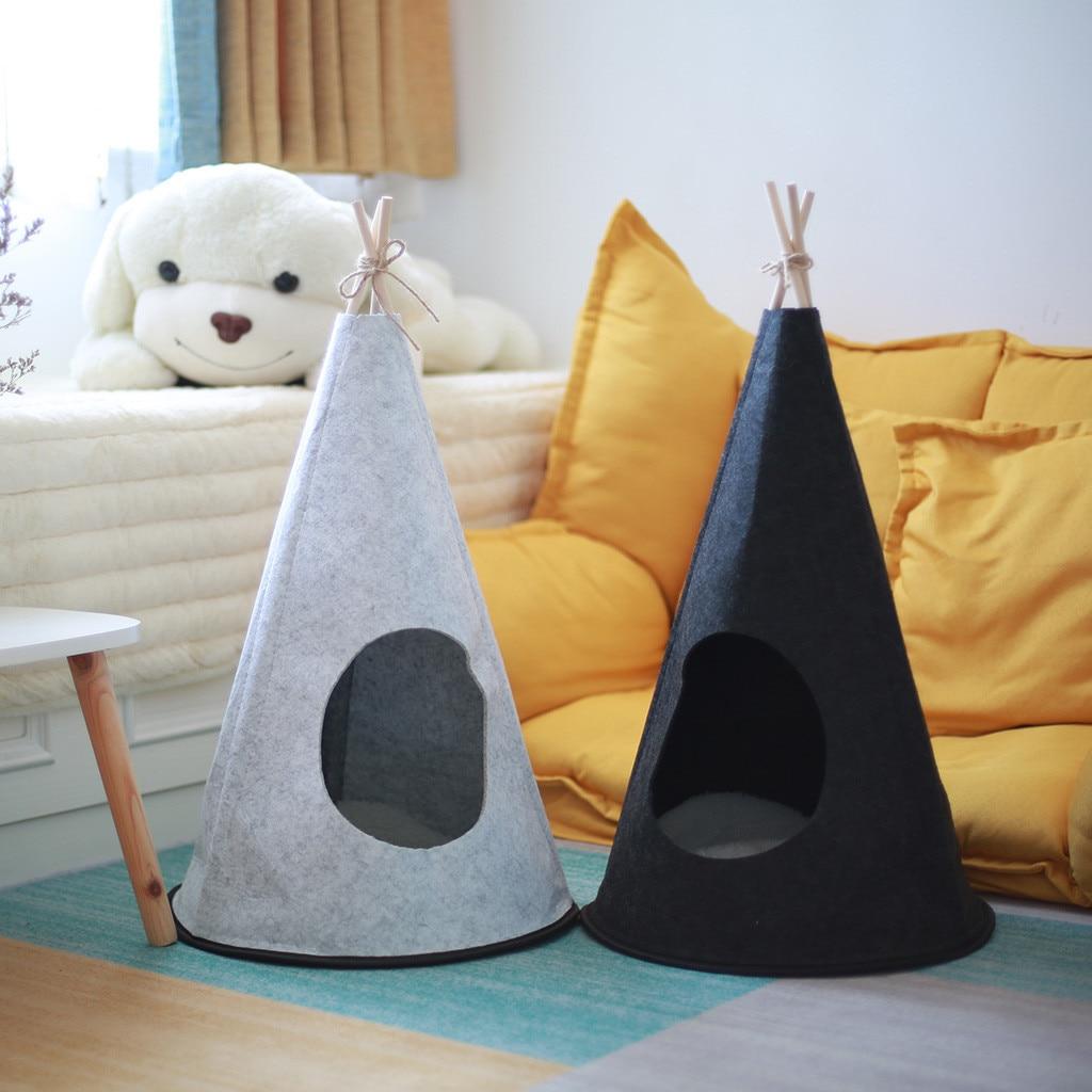 Палатка для домашних животных складная кошка собака дом кровать щенок Teepee спальный коврик на открытом воздухе моющиеся портативные питомн...
