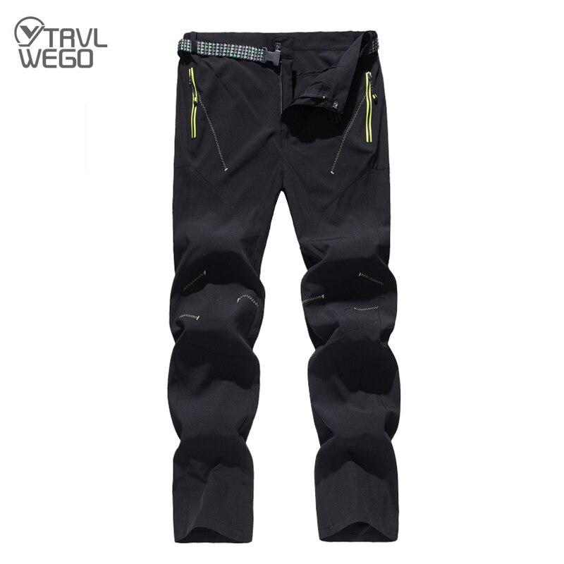 TRVLWEGO весенне-летние быстросохнущие водонепроницаемые походные брюки для мужчин эластичные уличные охотничьи брюки для альпинизма, рыбалк...