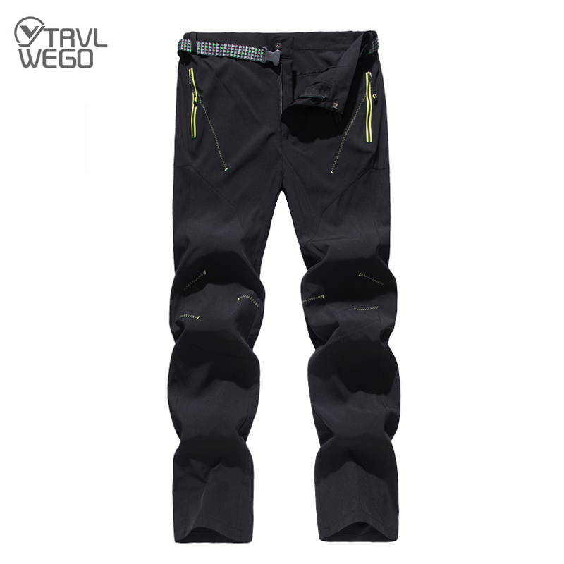 TRVLWEGO Spring Summer Quick dry Waterproof Hiking Pants Men Elastic Outdoor hunting Trousers Climbing Fishing Trekking Pants