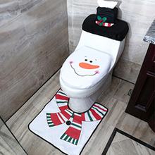 Carpet Bathtub Toilet Rug-Cover Shower-Mat Foot-Pad Small Christmas Santa-Claus