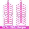 20 pink hangers