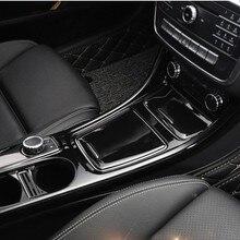 Автомобильный аксессуар для Mercedes Benz A/GLA/CLA Class 200 220 260 W176 A180 3D хромированная центральная консоль панель отделка наклейка украшение