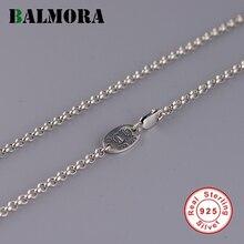 Женские и мужские ожерелья с цепочками BALMORA, из настоящего серебра 925 пробы, аксессуары для кулонов DIY, Простые Модные ювелирные изделия в стиле панк