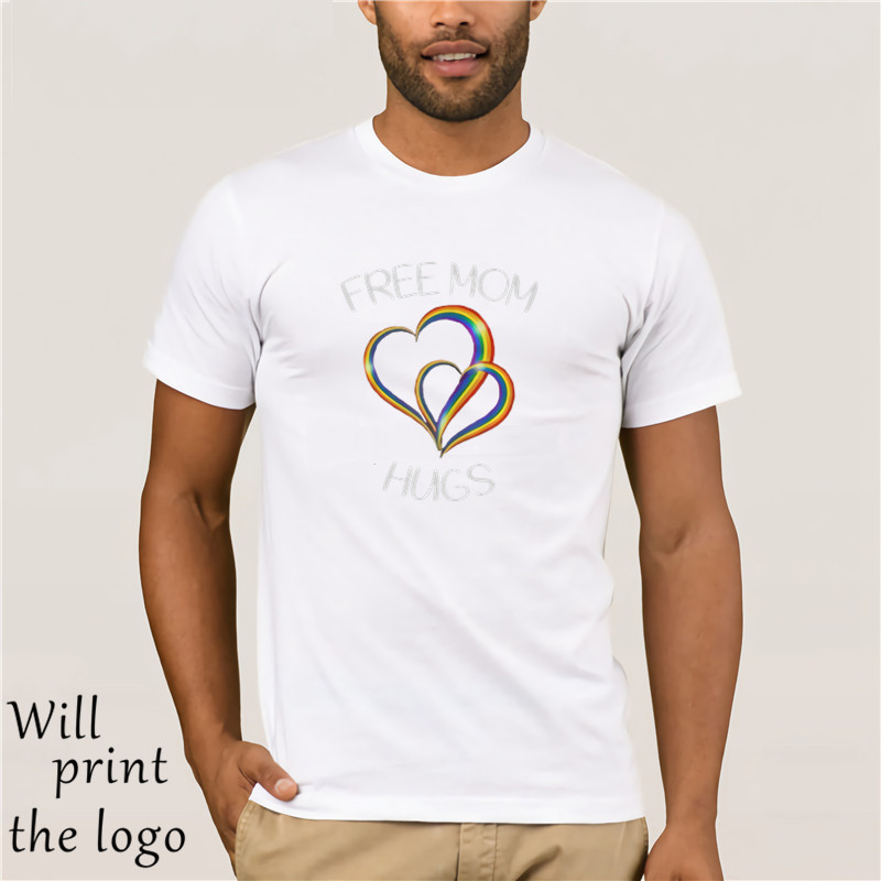 free mom <font><b>hugs</b></font> <font><b>tshirt</b></font> rainbow heart LGBT pride month T-Shirts image