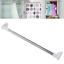 Wysuwane teleskopowe pręty prysznic karnisze szafa na ubrania Organizer stojak