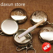 Mini Type  Metal Ashtray Keychain Cigar for Car Ashtrays with Lids Smokeless Creative