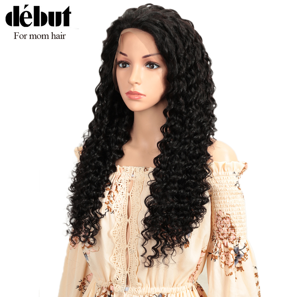Debut Lace Front Human Hair Wigs Curly Human Hair Wig Deep Wave Wig 100% Remy Indian Hair Wigs 13X4 Lace Wigs Short Wigs