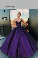Fitted Purple Prom Dresses Ball Gown Sheer Straps Crystal Evening Dress Arabic Dubai Formal Dress For Sweet 15 Years Old Wear