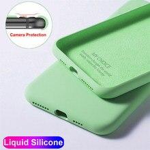 Bonito líquido sólido doces caso de telefone para iphone 11 pro max xs xr x se 2020 simples silicone caso para iphone 7 6s 8 plus capa macia