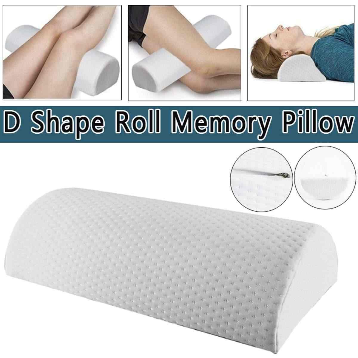 d shape memory foam sleep roll pillow