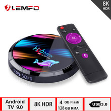 LEMFO h96 max S905 X3 caja TV inteligente Android 9,0 4GB 128GB 64GB 32GB soporte 8K Youtube reproduction de medios TV box(China)
