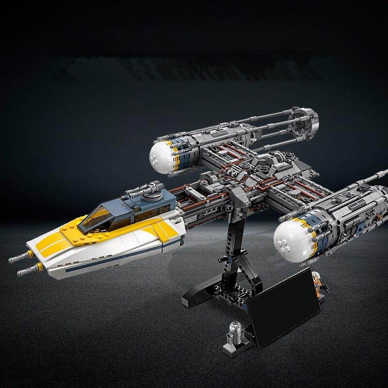 2019 совместимые Legoinglys Звездные войны Y wing строительные блоки StarWars наборы кирпичи классическая модель наборы Детская игрушка Marvel