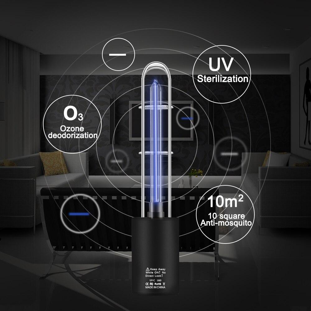Novelty USB Rechargeable Ultraviolet Lamp UV Sterilizer Light Tube Bulb Disinfection Bactericidal Lamp Ozone Sterilizer Light