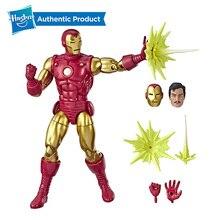 """Hasbro Marvel Legends serisi 80th yıldönümü 6 """"klasik demir adam Tony Stark 6 inç Vintage komik ilham demir aksiyon figürleri"""