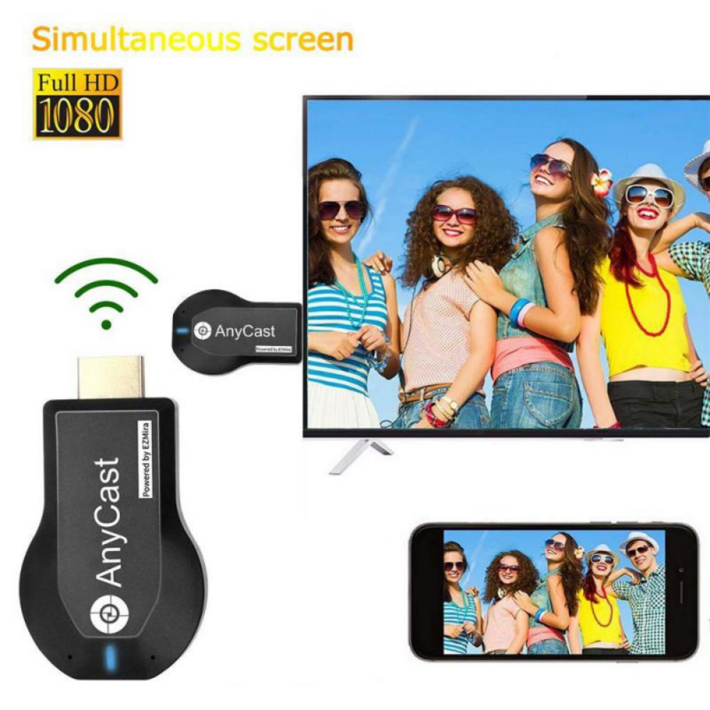New TV Stick 1080P Wireless WiFi Display TV Dongle Receiver For AnyCast M2 Plus For Airplay 1080P HDMI TV Stick DLNA Miracast