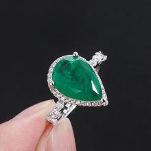 100% 925 пробы Серебряная груша с изумрудным Муассанит Серьги/ожерелье/кольцо