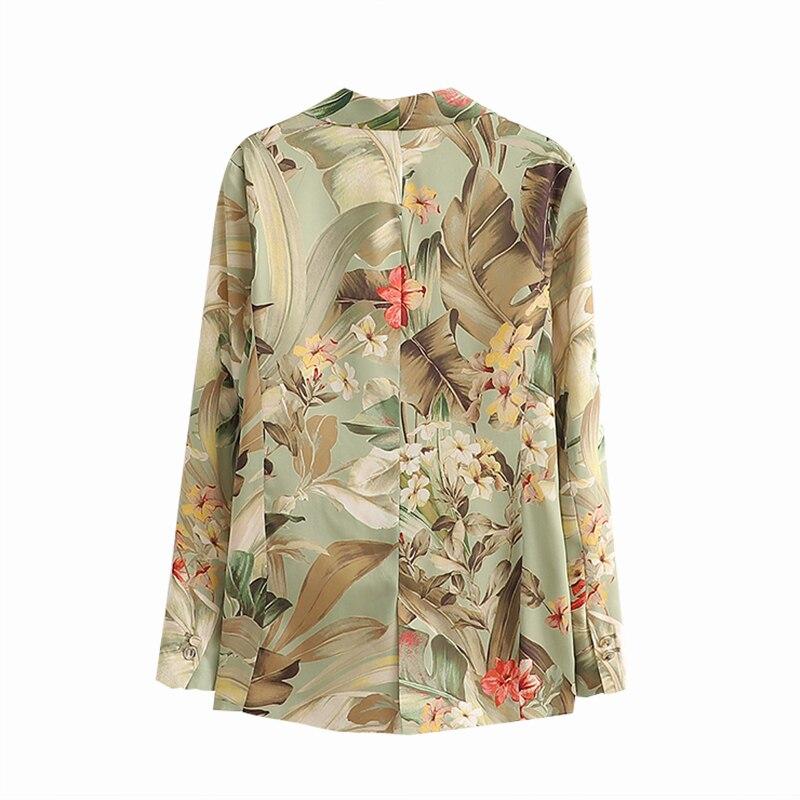 Women Blazers and Coats Retro Tide Floral Print Pocket Blazers Women 2019 Winter Fashion Office Lady Outerwear Jackets Women