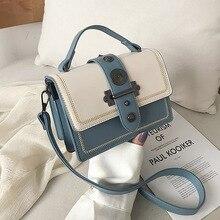 New 2019 Flap Cover Rivet Handbag Women's Bag Designer Luxury Brand Messenger Shoulder Bag Tote Casual PU Leather Crossbody Bag rivet detail flap handbag