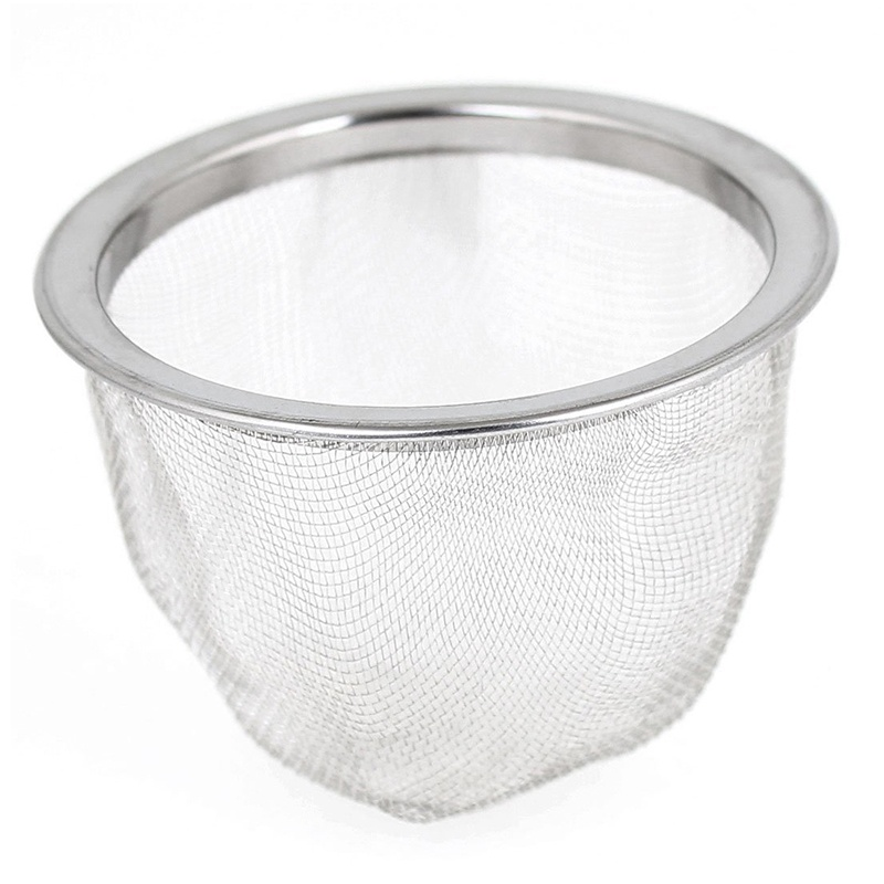 IALJ Top 63mm Silver Tone Stainless Steel Wire Mesh Tea Leaves Spice Strainer Basket