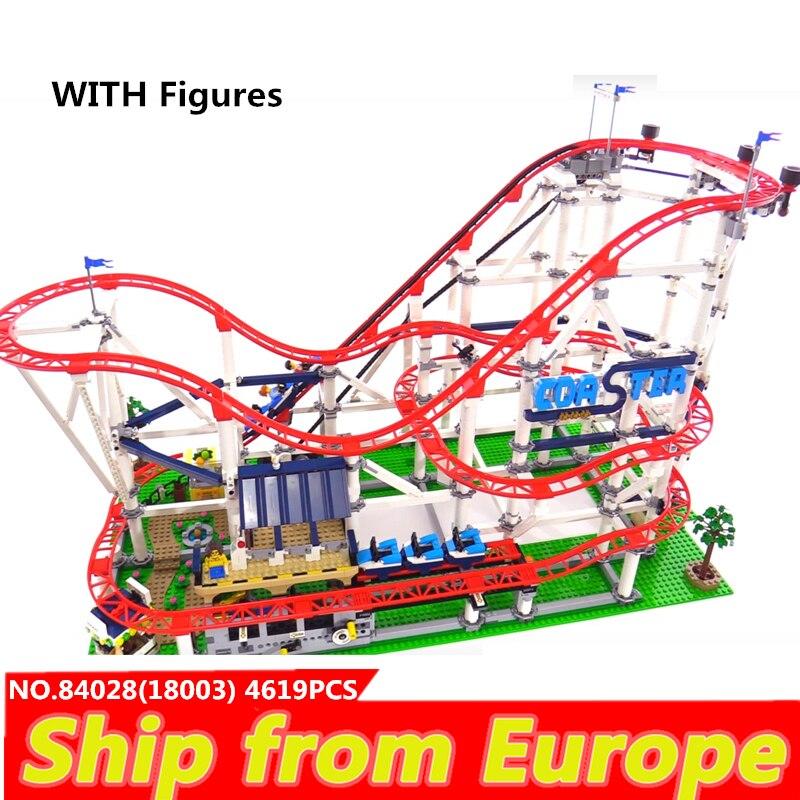 Lepining lepinblock City  Creator Expert 18003 15039 10261 Roller Coaster Technic Train Building Blocks Bricks King Friend ToysBlocks   -