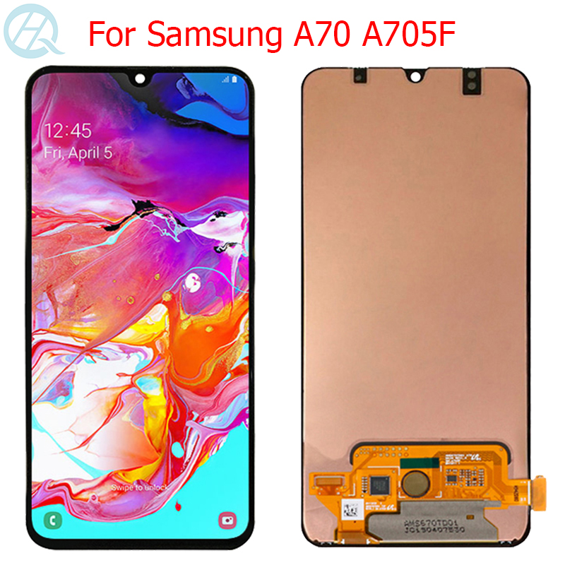 Original AMOLED LCD For Samsung Galaxy A70 Display With Frame 6.7