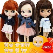 Buzlu DBS blyth doll 1/6 BJD özel fiyat 30cm oyuncak bjd bebek faceplace ve eller AB hediyeler olarak