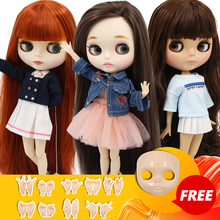 ICY DBS blyth doll 1/6 BJD special price 30cm toy joint body doll gift faceplace and hands AB