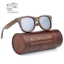 Environmentally sustainable polarized bamboo sunglasses unisex brown frame men's sunglasses retro sunglasses ladies Gafas цены