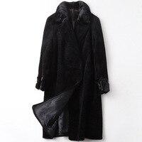 Real Fur Coat Female Wool Jacket Mink Fur Collar Autumn Winter Coat Women Clothes 2020 Korean Vintage Tops Suede Lining ZT4494