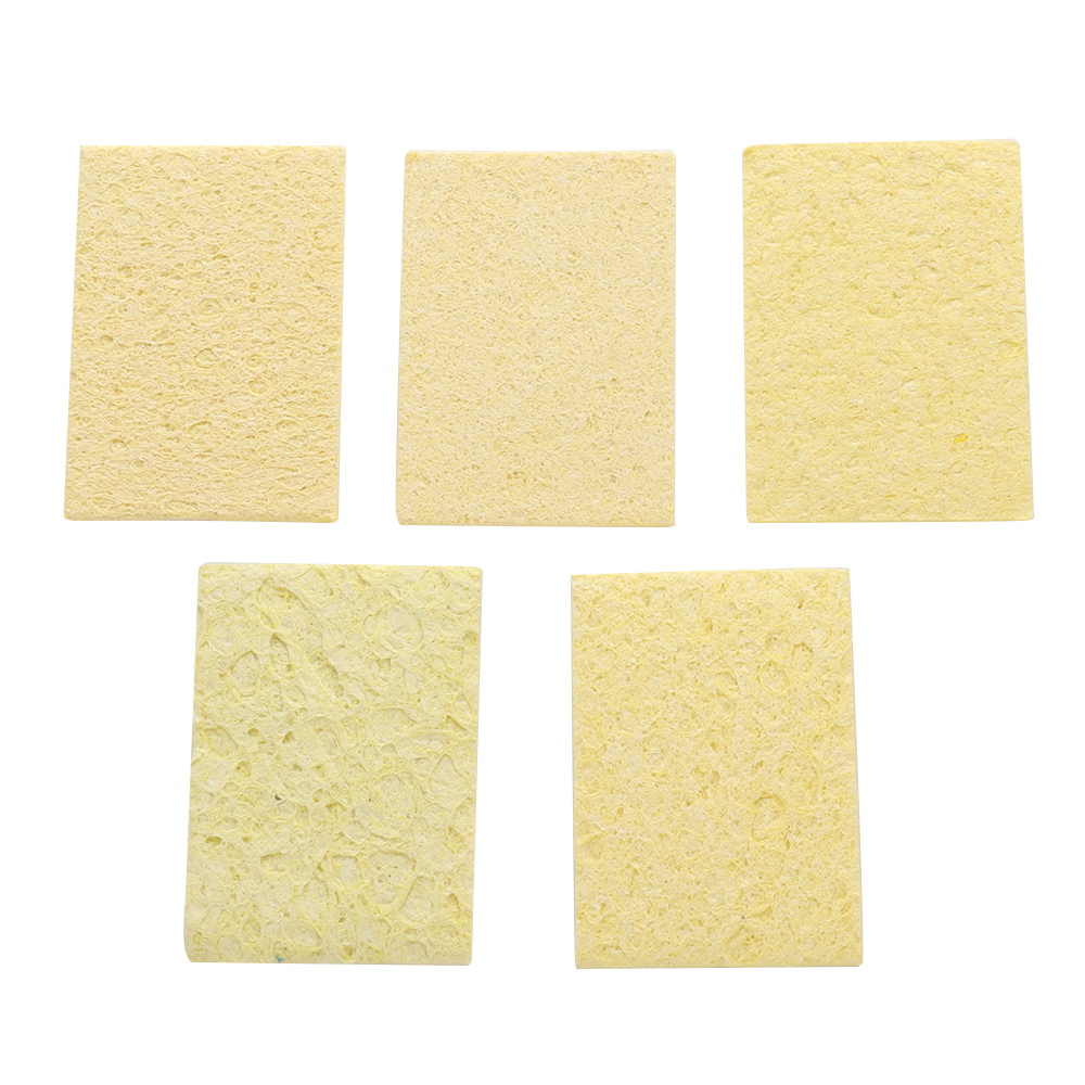 5pcs/set Universal Cleaning Sponge Cleaner For Enduring Solder Welding Station Electric Soldering Iron Tips Clean Reapir Tools
