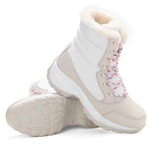 Image 3 - Женские ботинки, зимние водонепроницаемые ботинки, женская обувь 2019, женские зимние ботинки на платформе, сохраняющие тепло ботильоны, женские ботинки большого размера 41 42