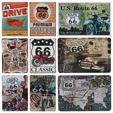 Get more info on the 30X20cm USA Vintage Metal Tin Signs Bar Club Wall Garage Home Decoration Route 66 Car Number License Plate Plaque Poster H18