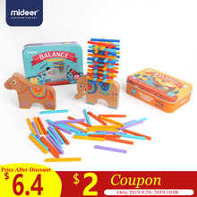 MiDeer 40pcs Kids Wooden Toys Math Shapes >3Y Gifts Educational for Blance Practise Learning Children