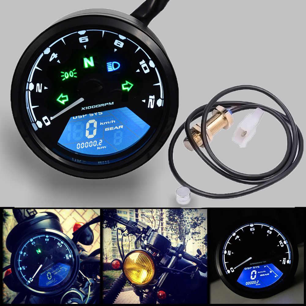 Мотоциклетный Спидометр светодиодный цифровой индикатор светильник Тахометр