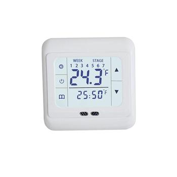 Thermoregulator Touch Screen Heating Thermostat for Warm Floor Electric Heating System Temperature Controller With Kid Lock eu programmable touch screen electric floor heating thermostat wiht double sensor