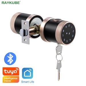 Image 1 - Serrure de porte dempreinte digitale Tuya Bluetooth Wifi clavier numérique serrure de bouton de combinaison de carte à puce pour la maison/bureau/hôtel serrure de bricolage