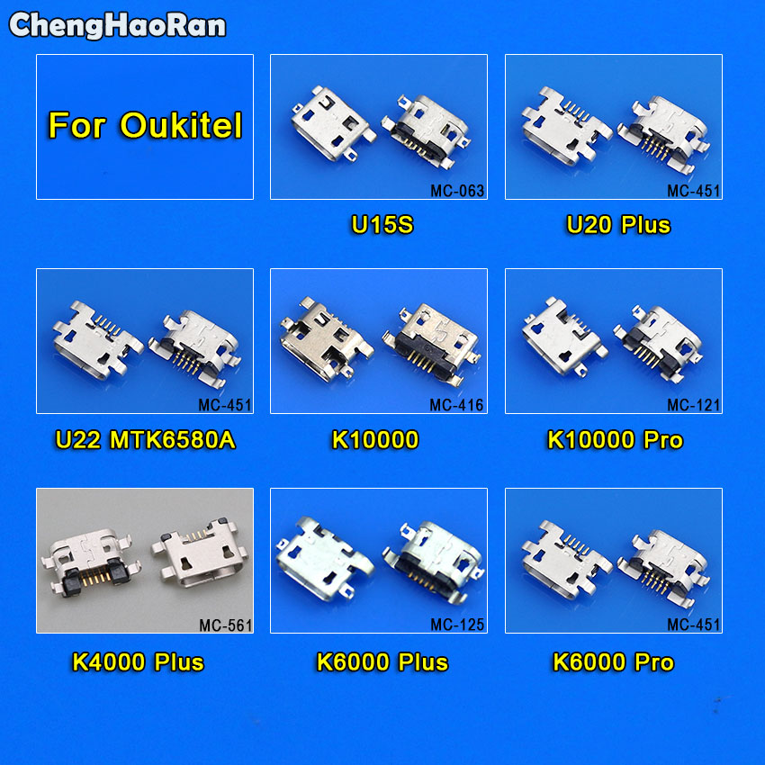ChengHaoRan 10X For <font><b>Oukitel</b></font> <font><b>K4000</b></font> Plus K6000 Pro K10000 Pro U22 U20 Plus U15S Micro USB Jack Socket Charging Dock Port Connector image