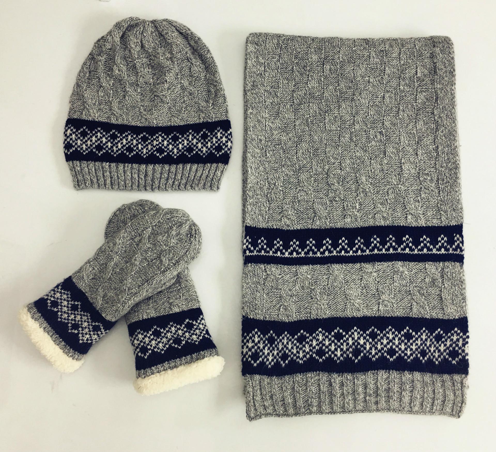 Ensemble bonnet, écharpe, gants