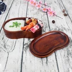 Naturalne  zwięzłe  jednowarstwowe  przenośne drewniane pudełko na lunch z niewoli dla ucznia