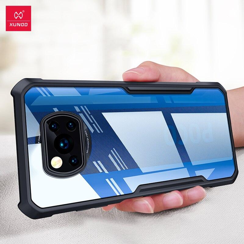 Funda POCO X3, funda de teléfono Xundd, cubierta a prueba de golpes, fundas ajustadas, carcasa transparente, para funda de Xiaomi pocofone Poco X3 NFC