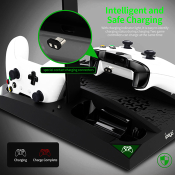 IPEGA Game Vertical Stand 6 in 1 Multifunctional Cooling Fan Headphone Holder Charging Base for XBOX ONE/XBOX ONE X/XBOX ONE S 5