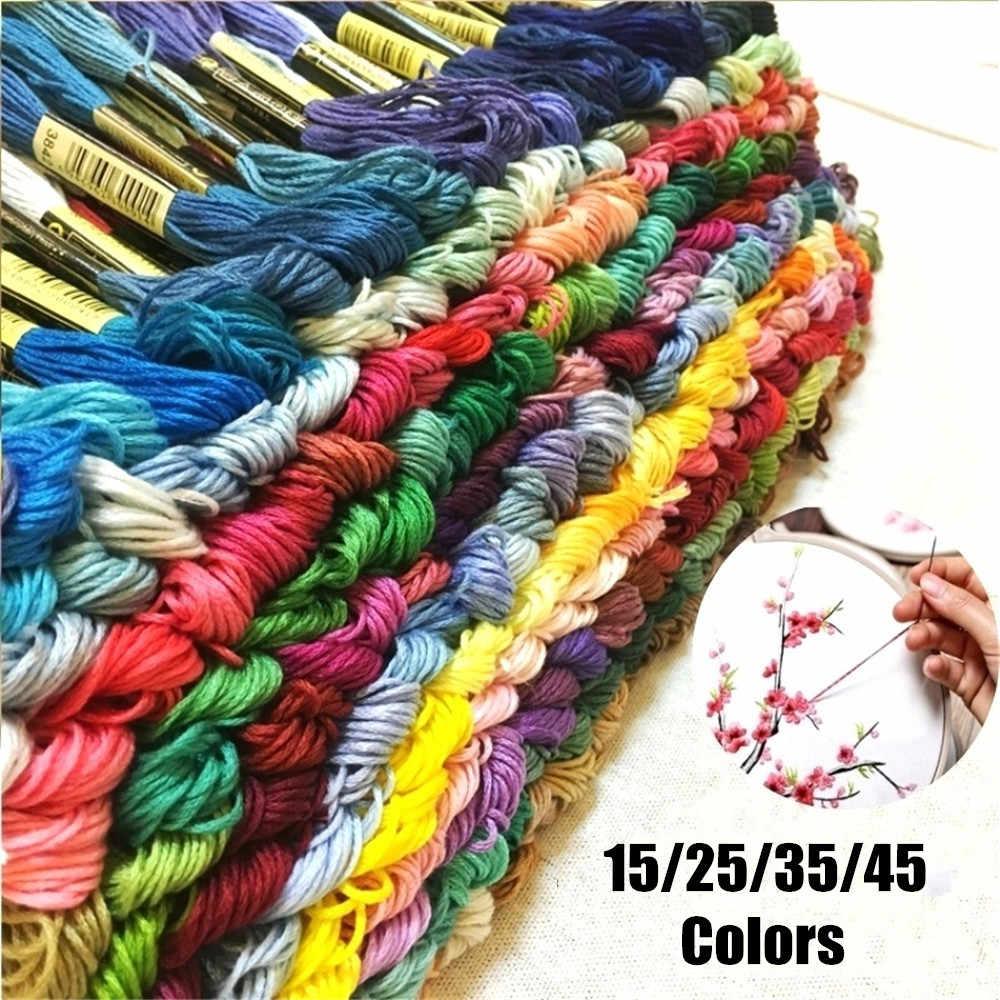 15/25/35/45Multi-Colors fil à broder de haute qualité fil à coudre fil à broder artisanat maison couture bricolage décor